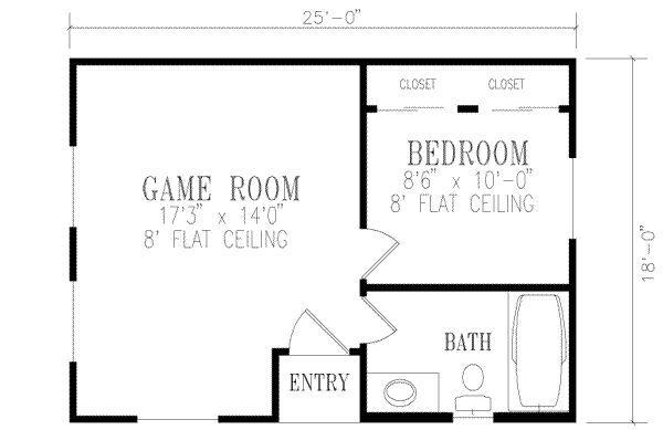 1 Bedroom House Plans Floor Plan Design Mediterranean Style House Plans Floor Plans