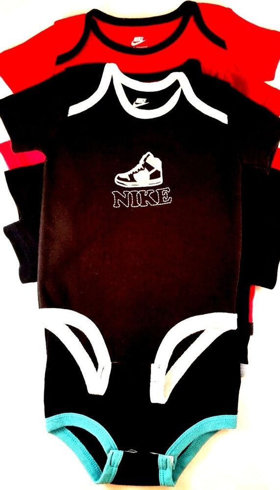 544dba2a4ad NIKE Baby Boy One Piece Body Suit Size 0 3 Months 6 Piece Lot  Nike   Everyday