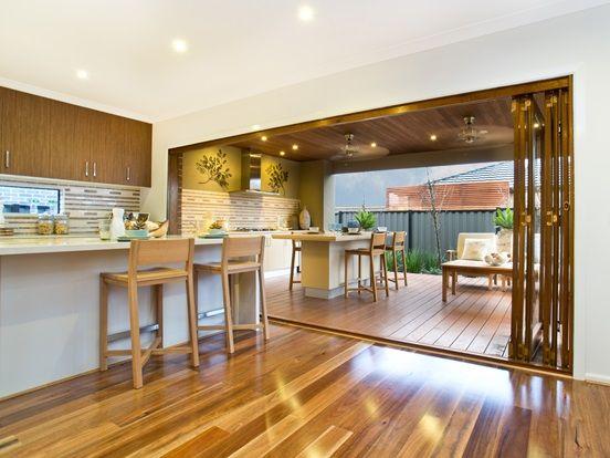 Timber Bifold 2 From dining to verandah & Timber Bifold 2 From dining to verandah | Doors | Pinterest ...
