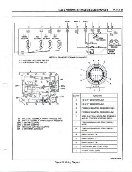 4l60e Wiring Harness Diagram Chevy Transmission Transmission Wiring Diagram
