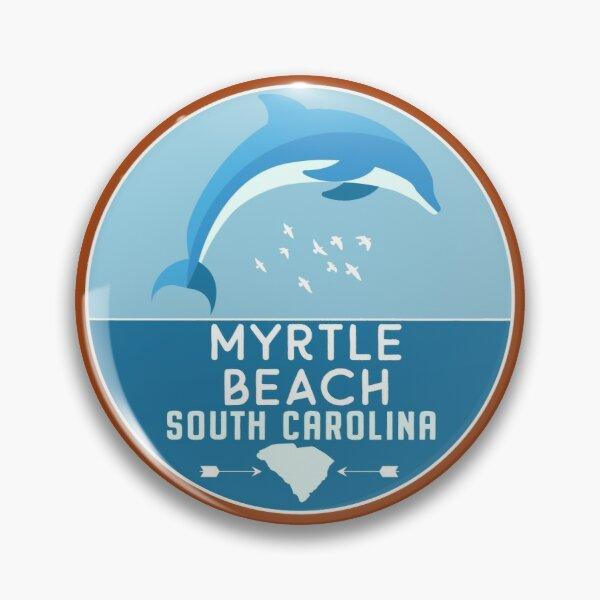 Myrtle Beach South Carolina Retro Sc Ocean Dolphin Badge By Palmettodigital Redbubble Ocean Beach California Kiawah Island Beach Cardiff By The Sea
