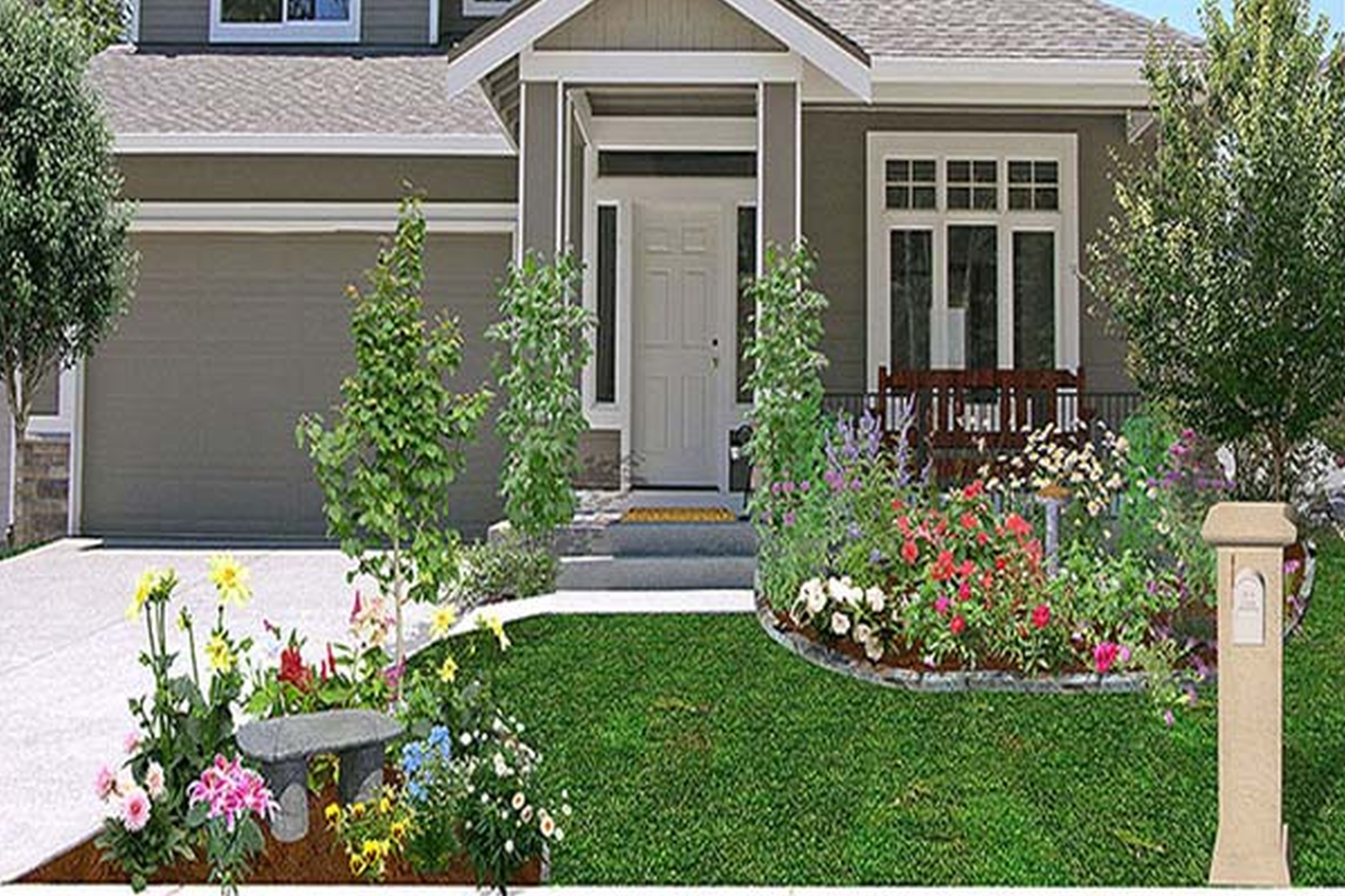 curb appeal on a budget - Google Search | Small house ...
