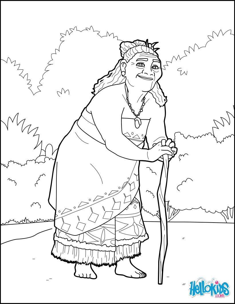 Tala Coloring Page From The Famous Disney Movie Moana More Disney