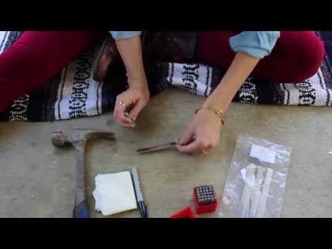 diy hand-stamped metal cuff bracelet - YouTube