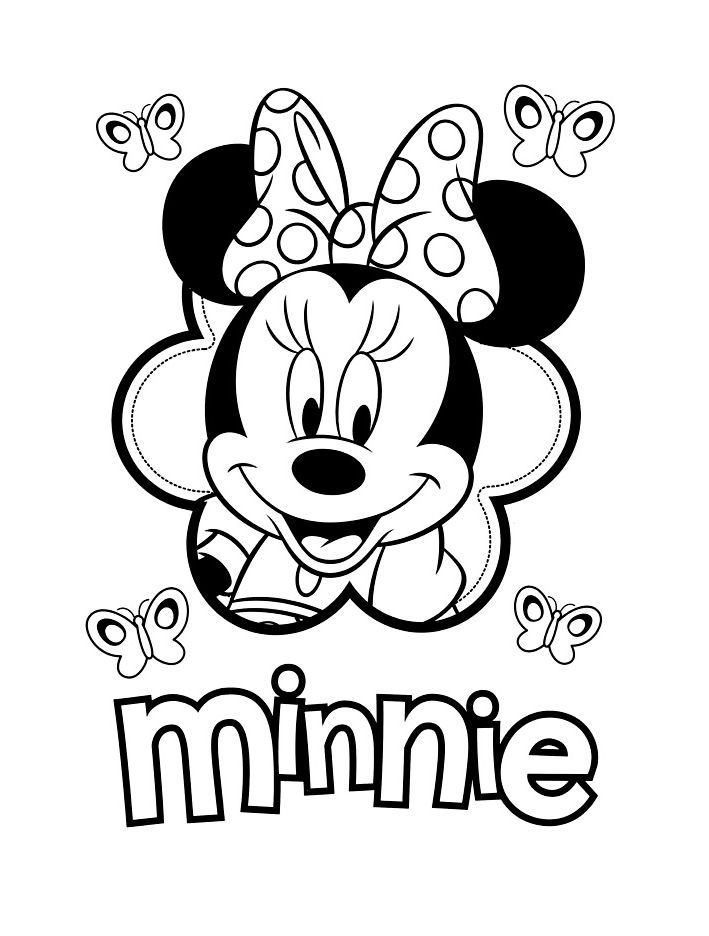 Coloriage Minnie Facile Motifs Pinterest Coloriage Minnie