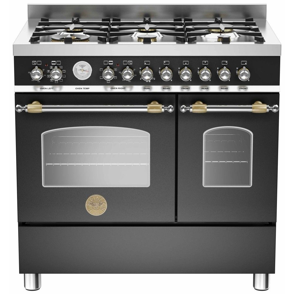 5l accents range only electricals co uk small kitchen appliances - Bertazzoni Heritage 90 Dual Fuel Range Cooker Black Stainless Steel