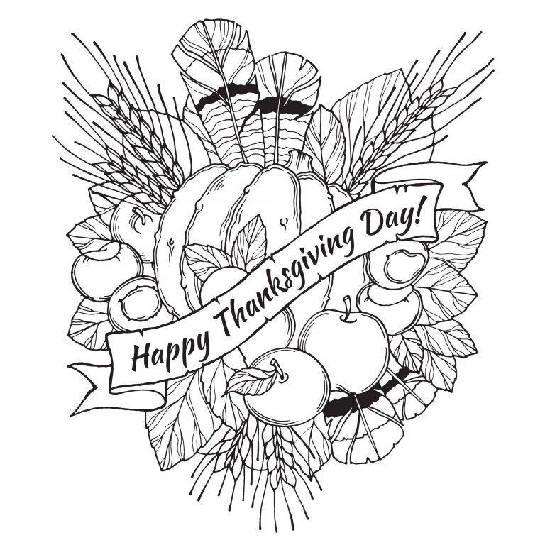 thanksgiving malvorlagen für erwachsene  beste