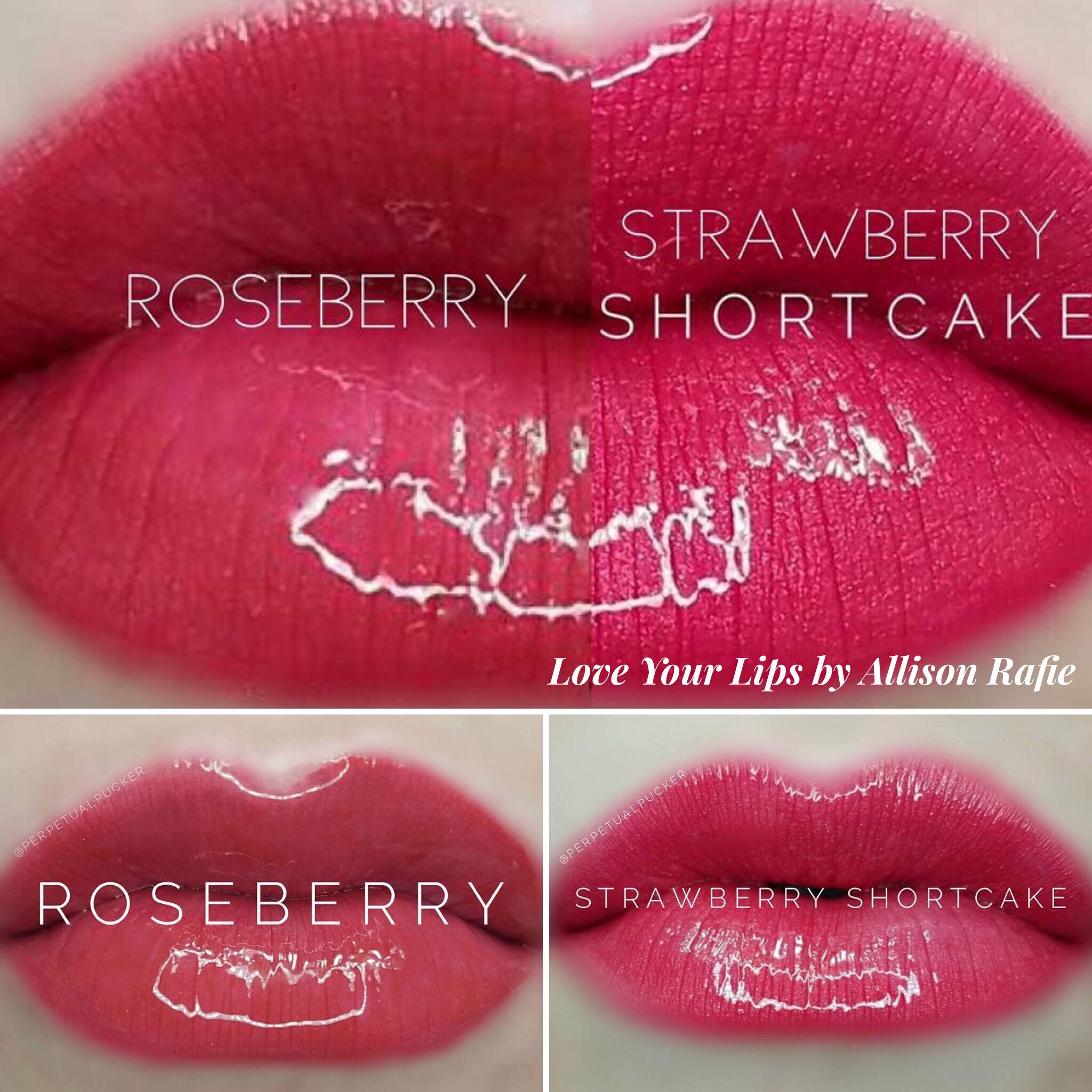 Roseberry vs Strawberry Shortcake LipSense Distributer