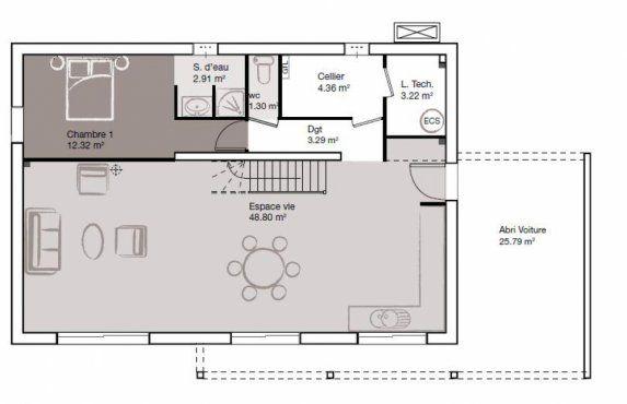 Plan Maison Neuve À Construire - Marc Junior Eco Design 140   Plans
