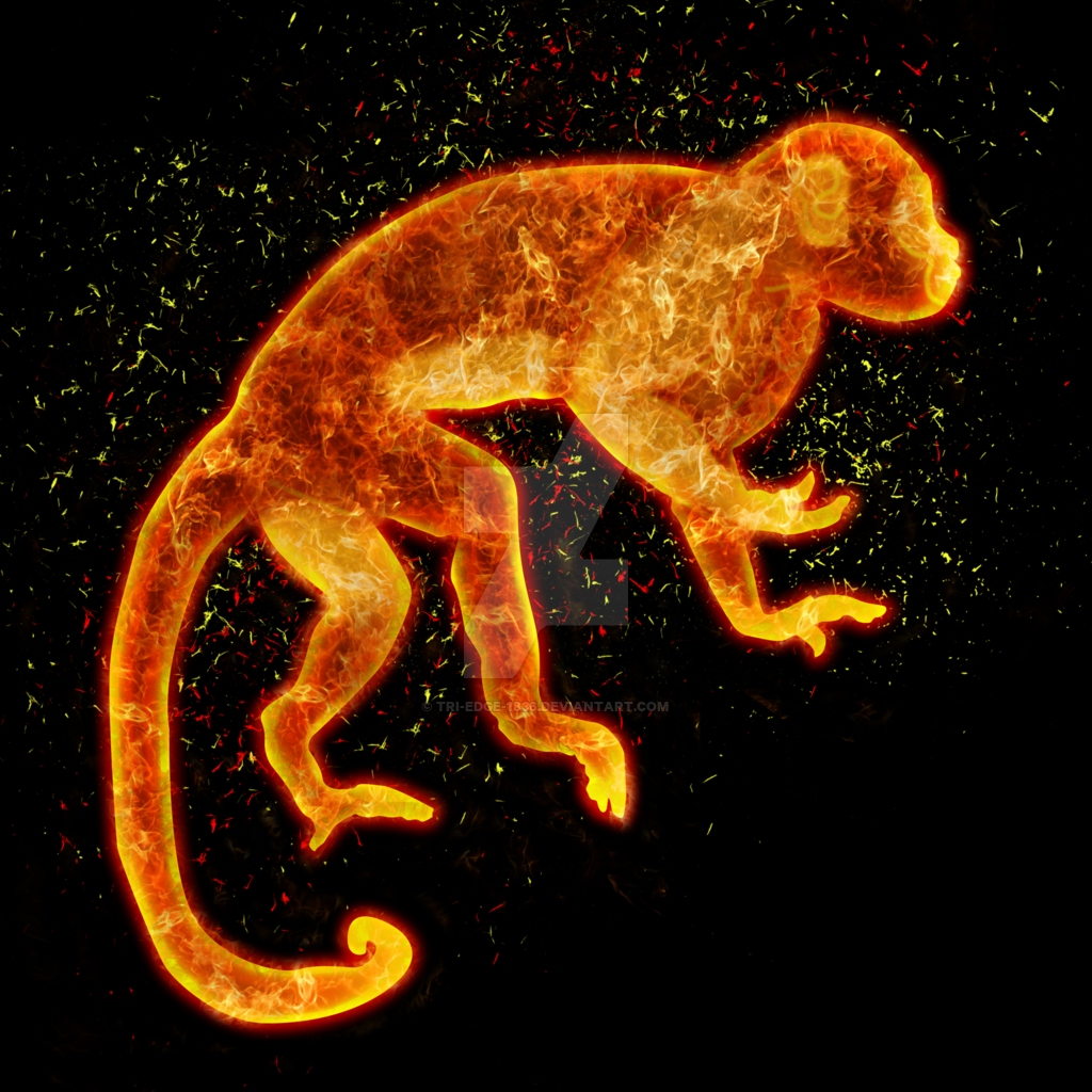 854c0a8d9 Fire monkey by Tri-Edge-1836 on DeviantArt | Fire Monkey | Monkey ...
