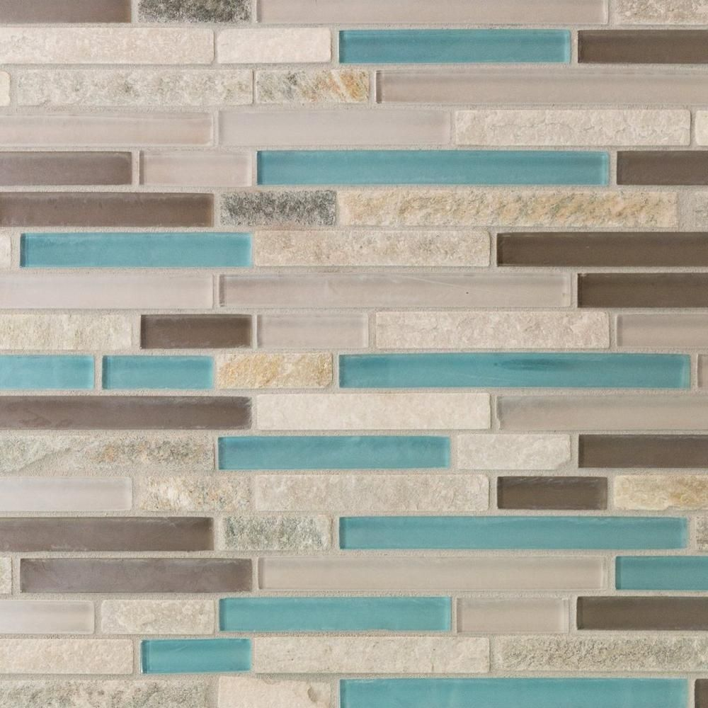 - Cerulean Blue Glass Mosaic Blue Glass Tile Backsplash, Blue Glass, Mosaic  Glass