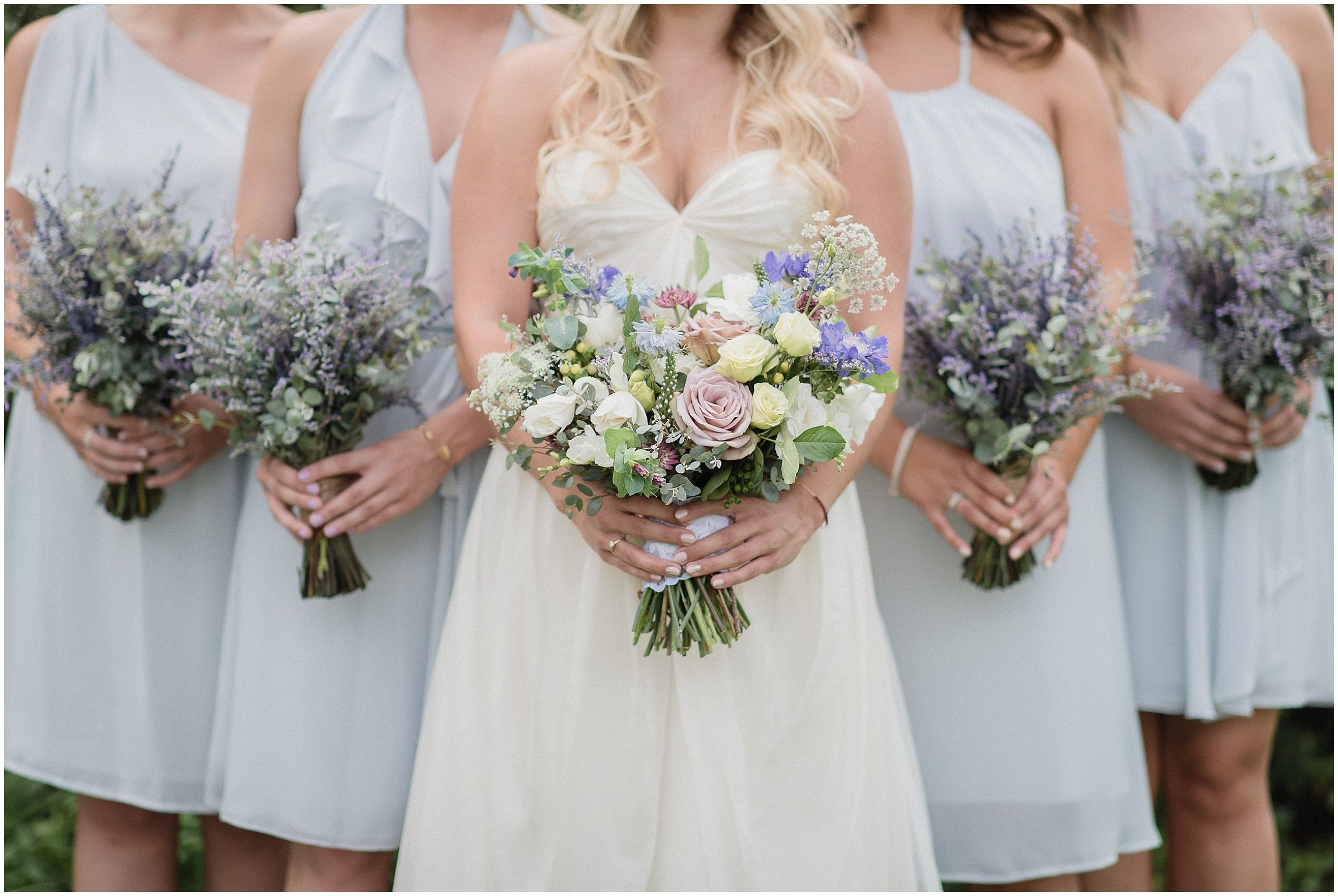 Pastel Garden Inspired Bouquet By Coriander And Dried Lavender Bunches Photographed Jenn