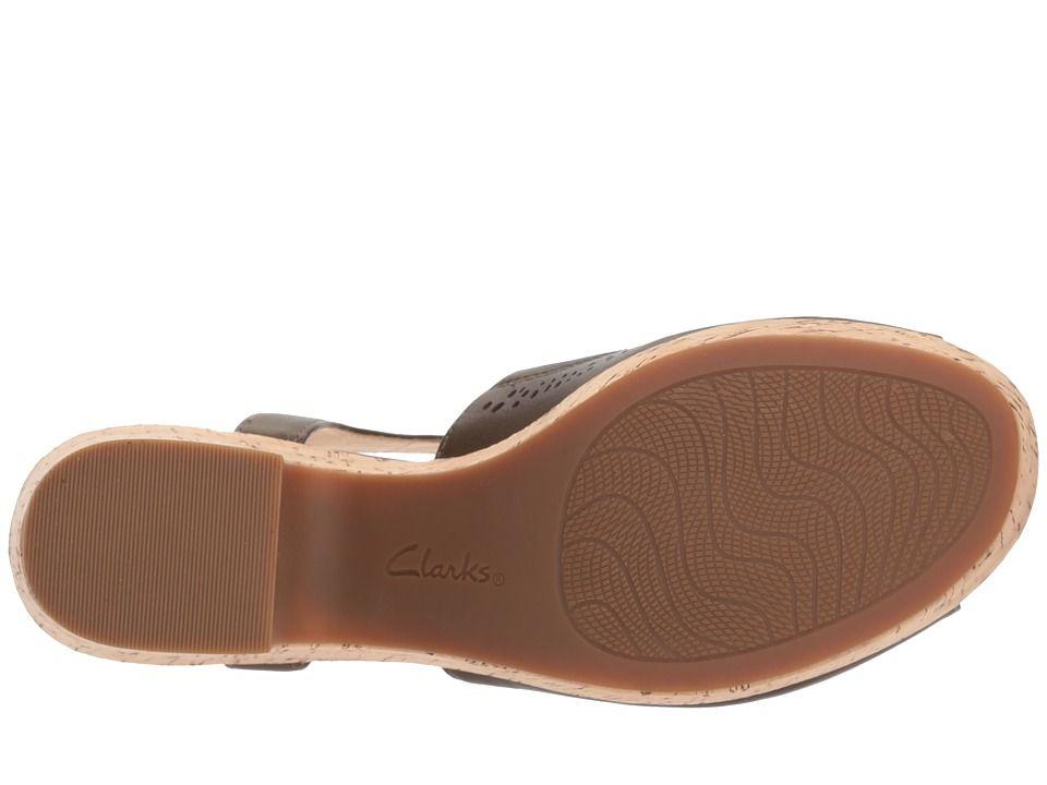 b4460911c25 Clarks Maritsa Nila Women s Wedge Shoes Khaki Leather