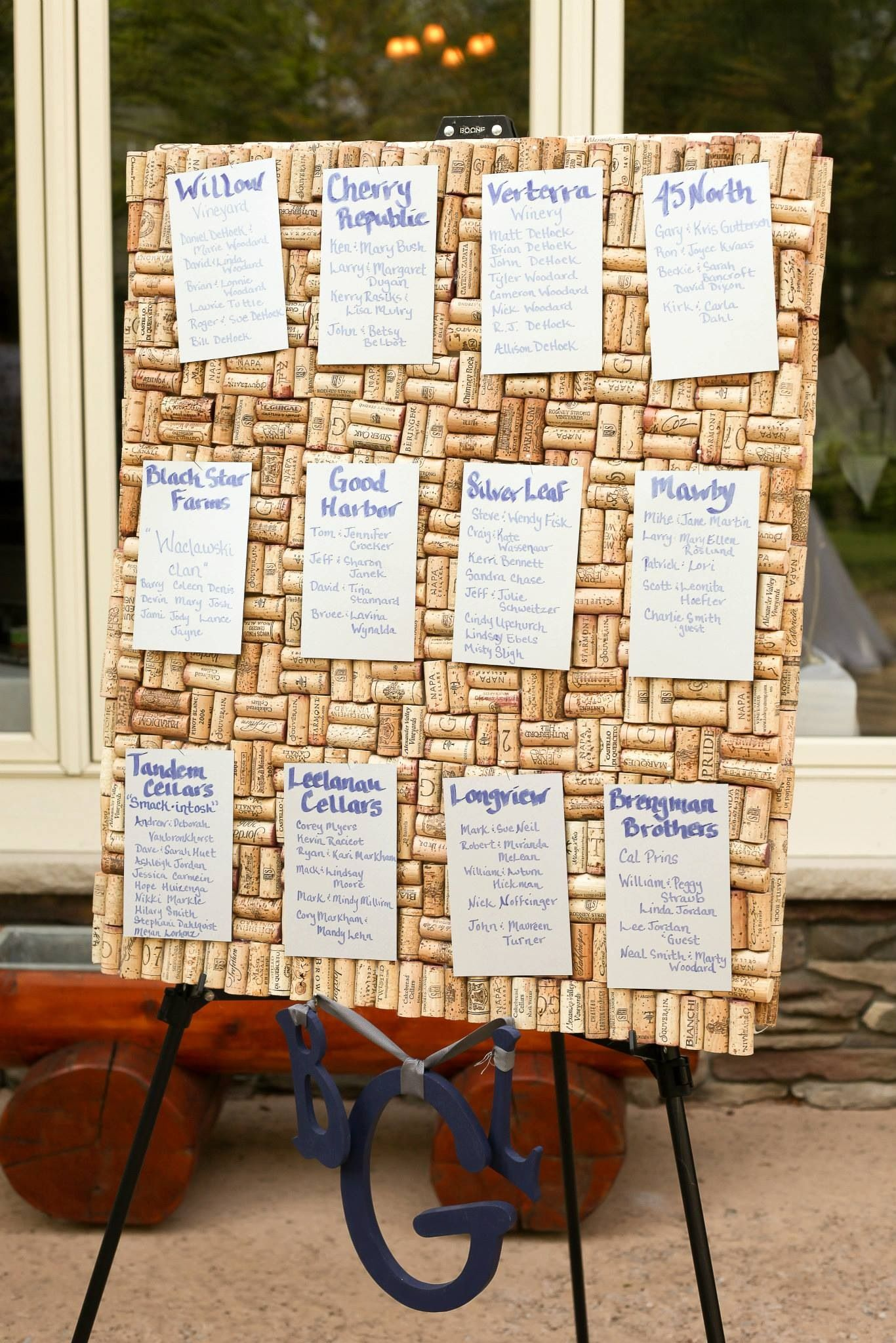 Wine Cork Board For Sheeting Chart Tables Assigned By Winery Names T Wedding Table Assignments Minimalist Wedding Invitation Modern Music Wedding Invitations