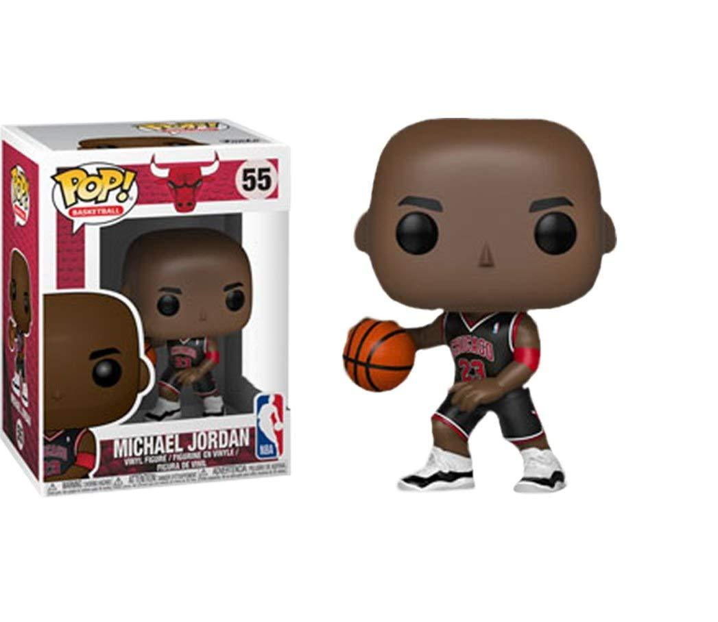 Pop Nba Bulls Michael Jordan Vinyl Figure Black Jersey 55 Exclusive Big Boy Stickers Michael Jordan Funko Funko Pop