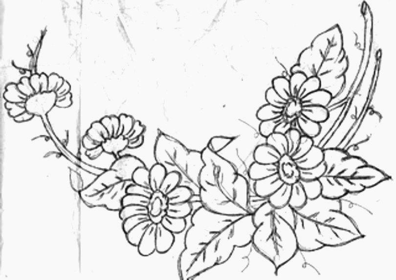 Dibujos De Flores Para Colorear Pintar E Imprimir Flores 6: Flores De Navidad Para Colorear E Imprimir