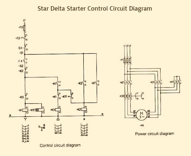 Star Delta Starter Control Power Circuit Diagram Diy Electronics