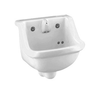 View The American Standard 0421 018 Prison 14 Wall Mounted Porcelain Bathroom Sink At Build Com Wall Mounted Bathroom Sinks Porcelain Bathroom Sink Sink