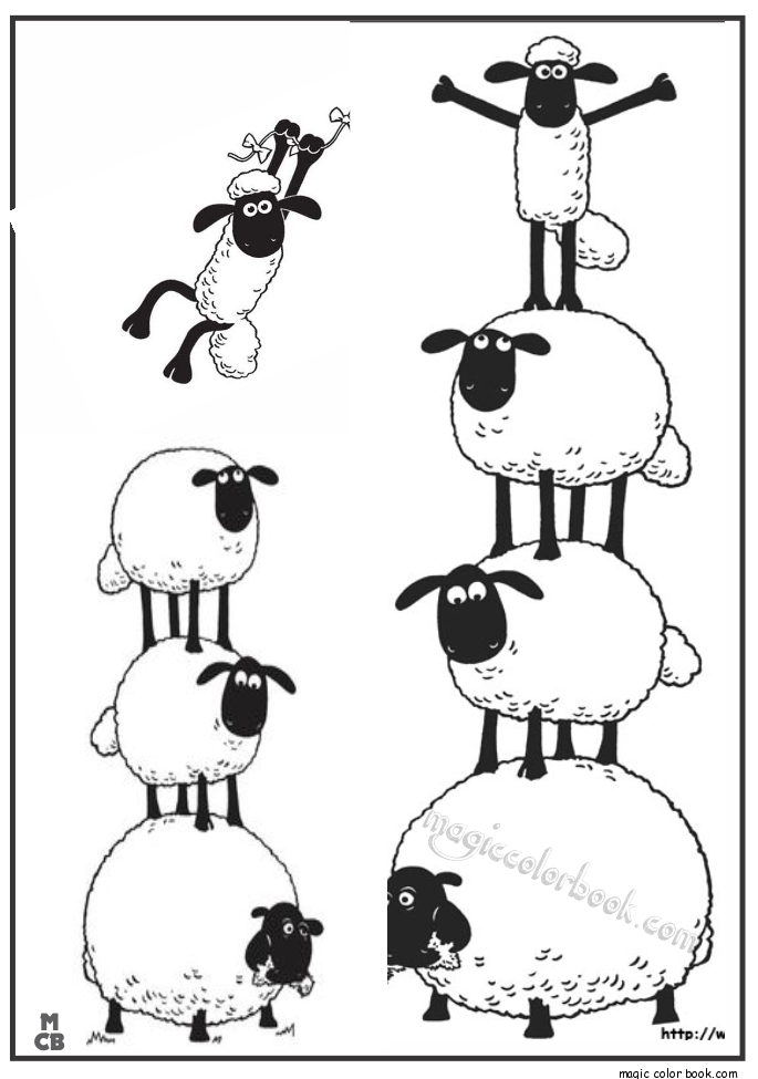 Shaun Sheep Free Printable Coloring Pages 09 Themed Parties