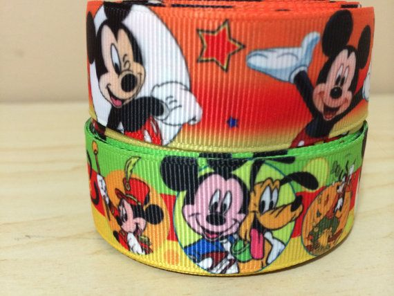 1 3 or 5 yards of mickey mouse grosgrain