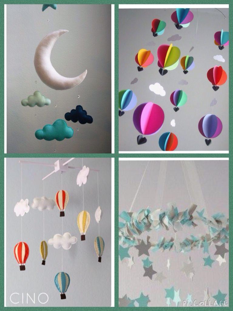 Fonkelnieuw Baby mobiel van vilt om zelf te maken Met maan, luchtballon met JB-03