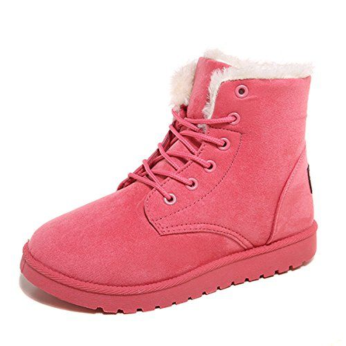 Saguaro Womens Winter Warm Fur Lined Lace Up Ankle Snow Boots Trainer Sneaker See This Great Product Boots Womens Boots Ankle Black Winter Boots