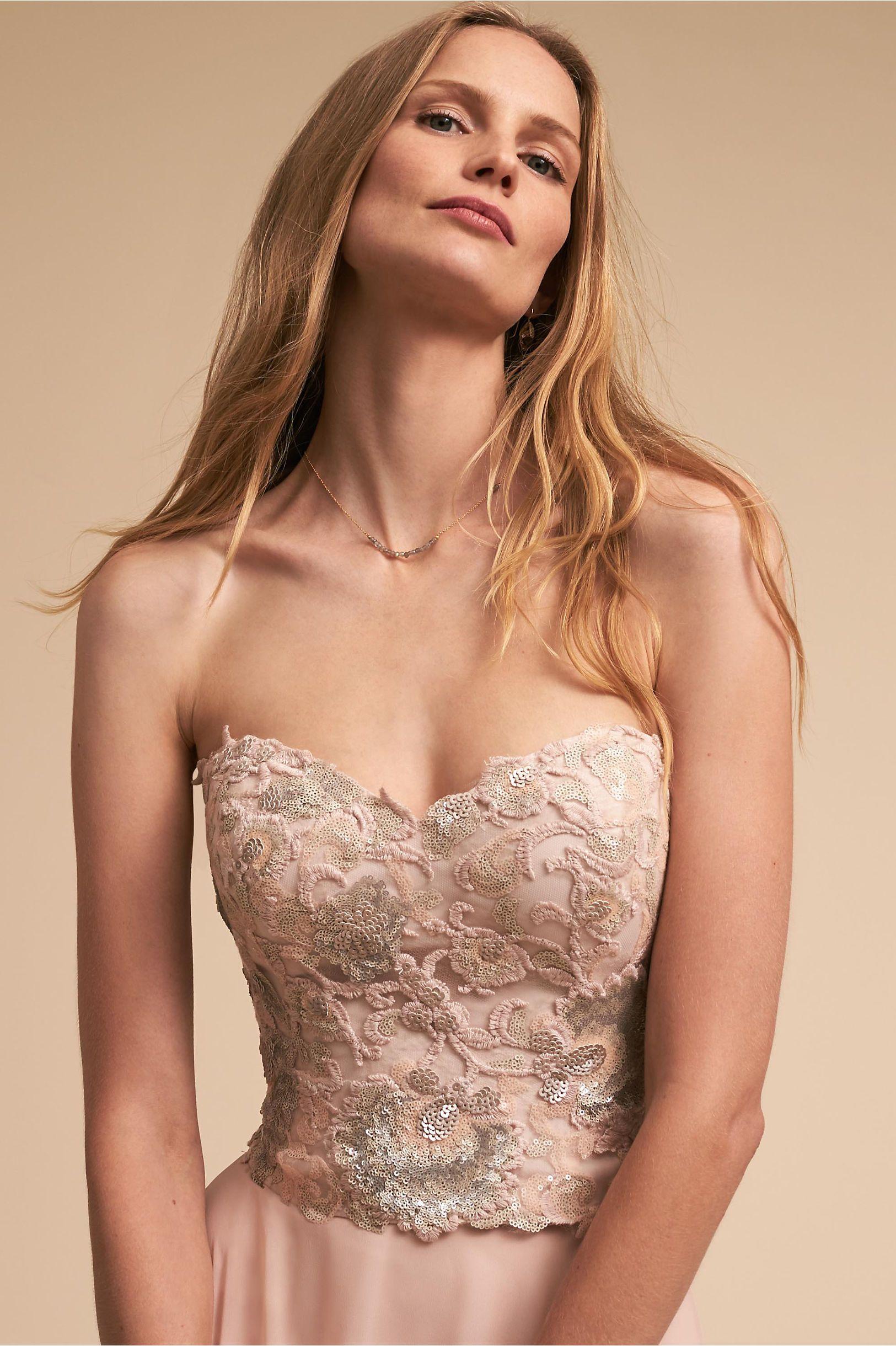 Bhldn renae corset top blush in bridal party bhldn