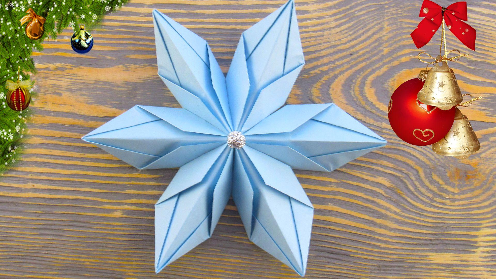 Как сделать снежинки оригами на новый год фото 248