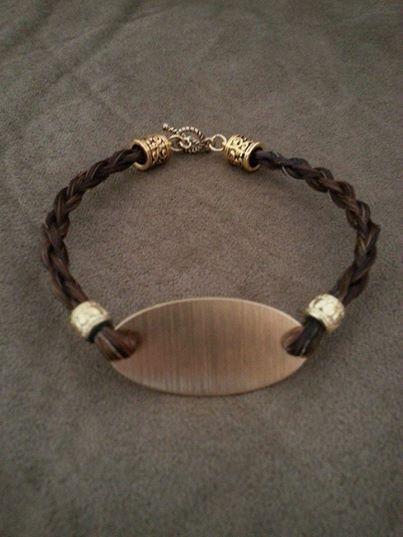 Custom Engraved Horse Hair Bracelets!