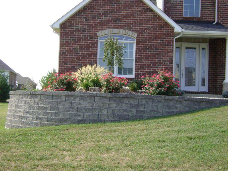 Beautiful Flowerbed Landscaped Retaining Wall | ... MO, Retaining Walls, Keystone  Legacy Block