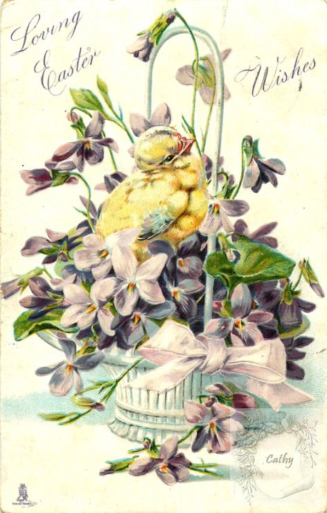 (227) Gallery.ru / Фото #43 - vintage postal cards (large model)4 - florette