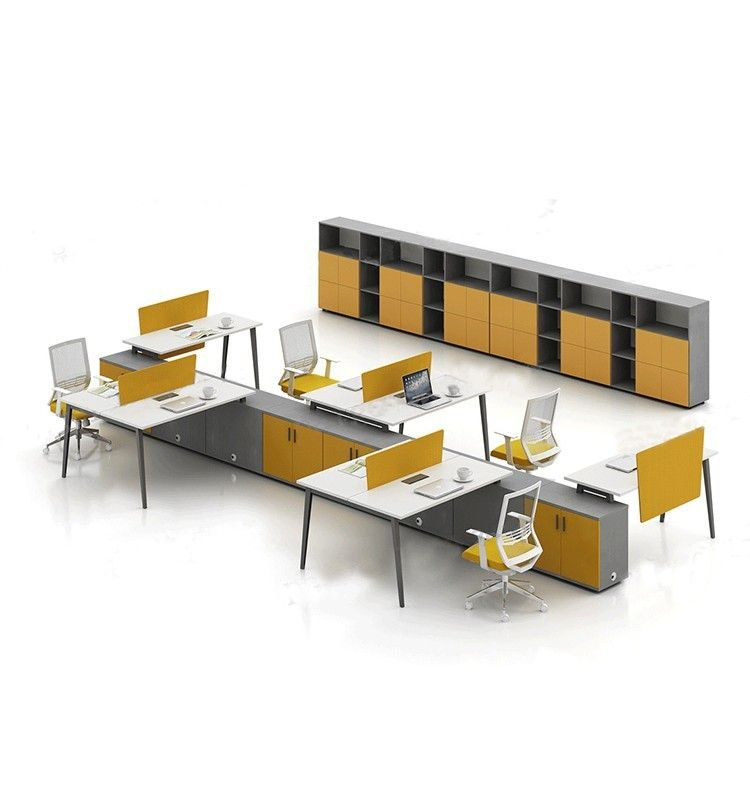 Best Quality Factory Price 6 People Office Furniture Wood Office ...