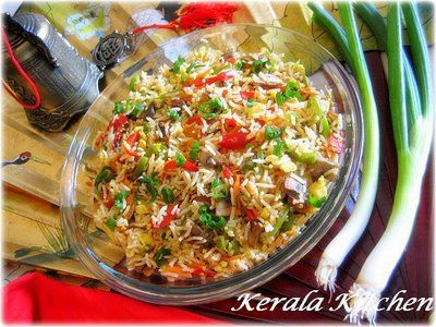 KERALA KITCHEN: Fried Rice - straight from the wok..