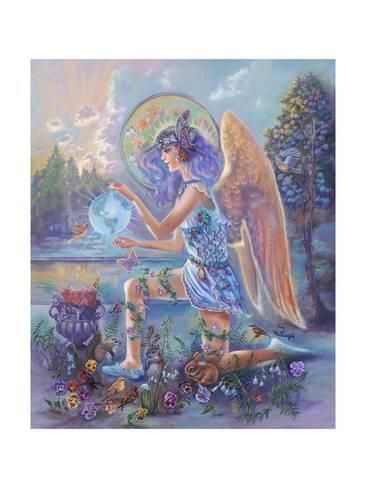 Guardian Angel Of The World Giclee Print Judy Mastrangelo Art Com In 2020 Angel Tarot Cards Angel Tarot Angel Oracle Cards