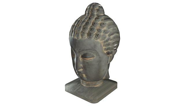 Large Preview Of 3d Model Of Tete Statue Maisons Du Monde Ref 125763 Prix 79 Statue Bouddha Statue Meuble Maison Du Monde