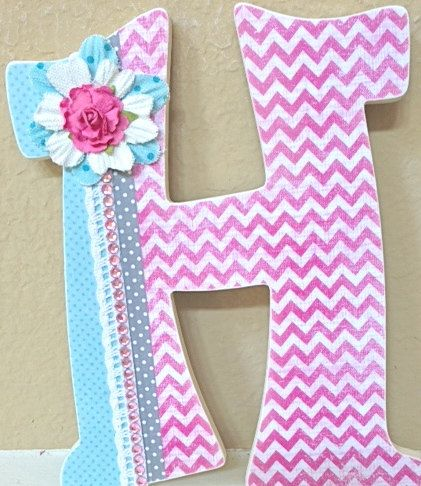 Decorative Wall Letters - Nursery Letters - Childrens Wall Letters ...