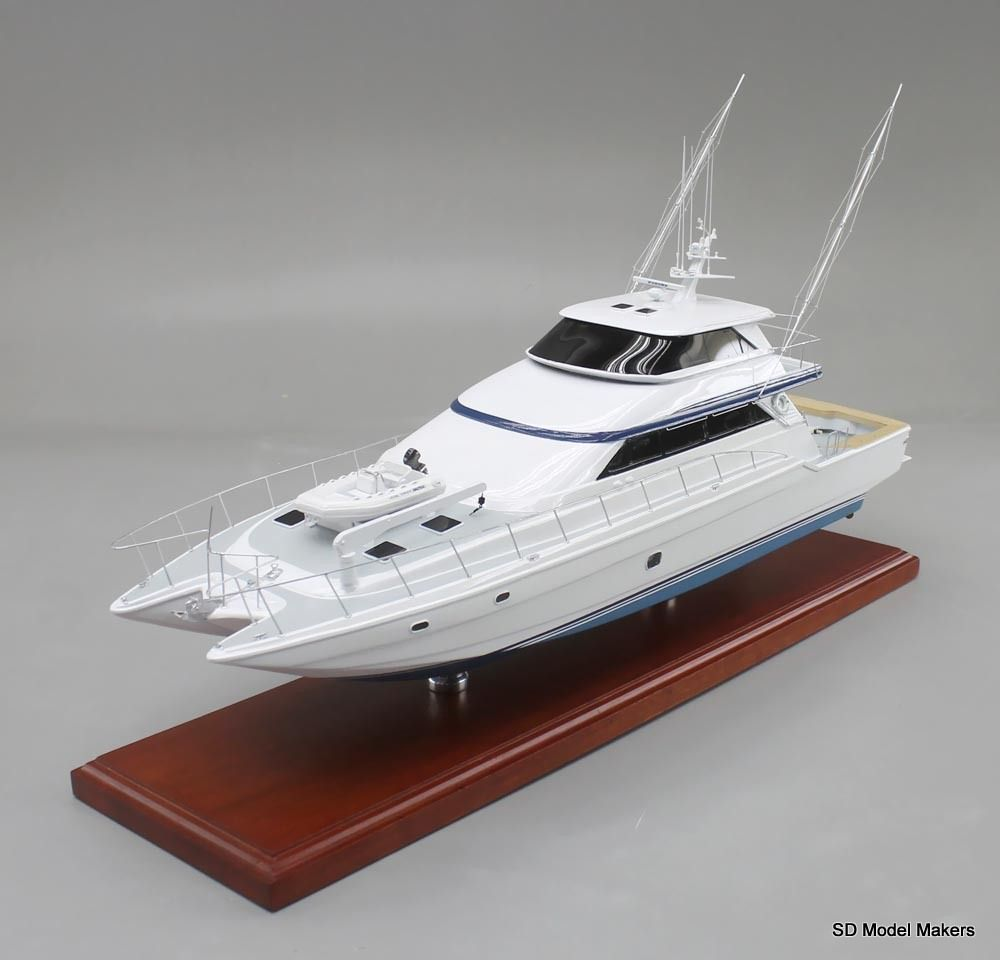Fish on 24 desktop replica of a 90ft mares for Catamaran fishing boat manufacturers