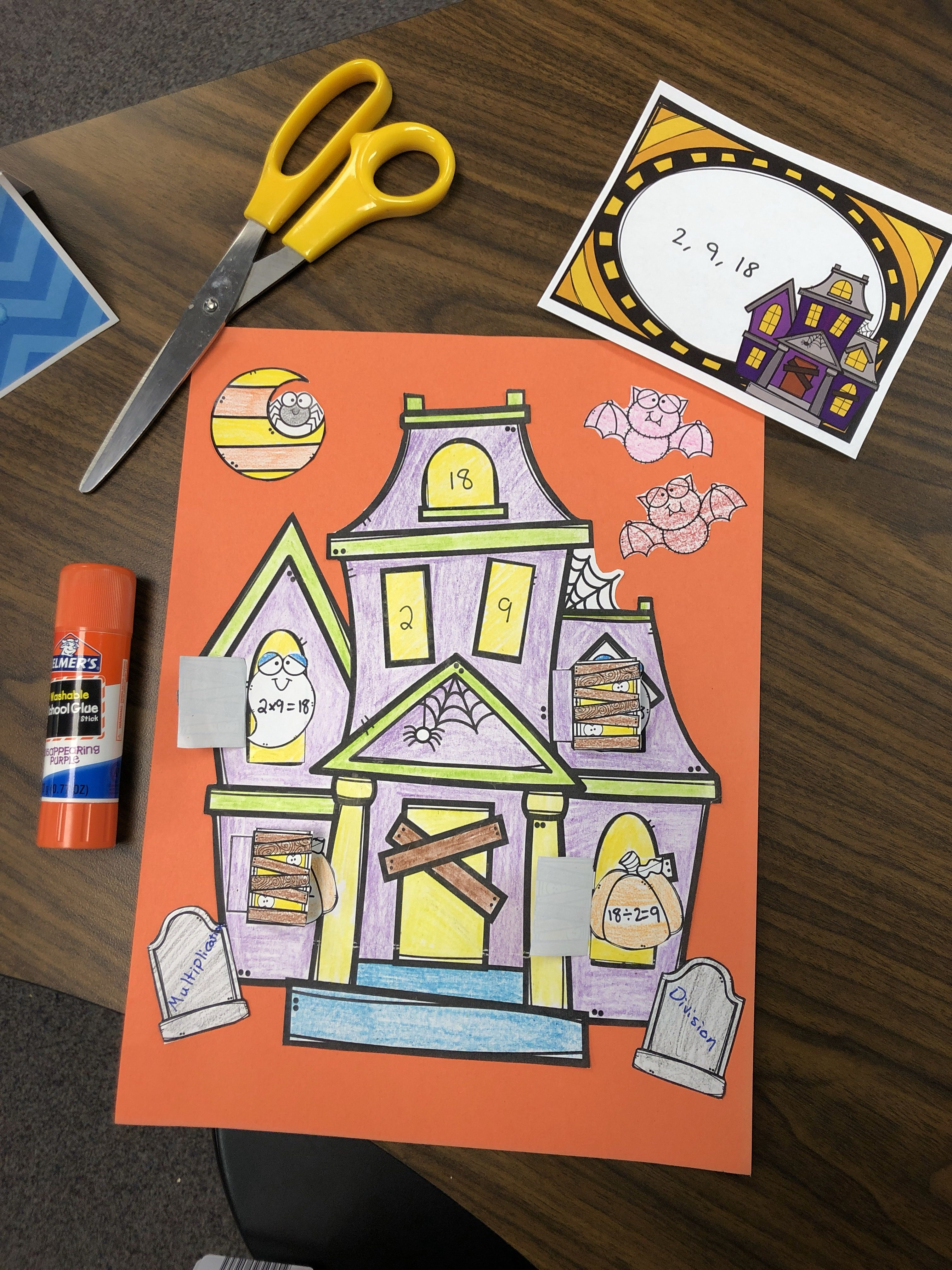 Multiplication And Division Fact Family Haunted House