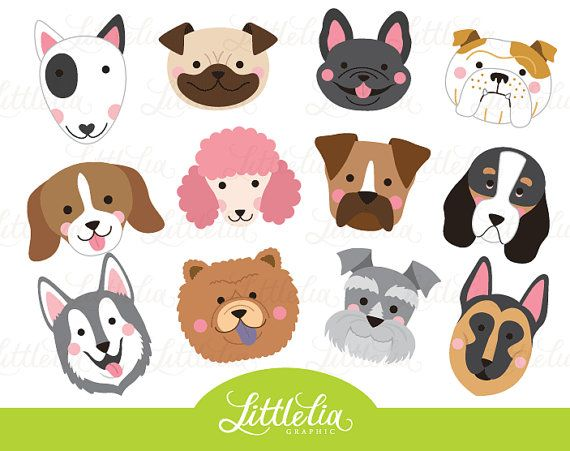 Dog Head Clipart Dog Face Clipart 16070 Etsy Clip Art Dog Face Drawing Animal Clipart