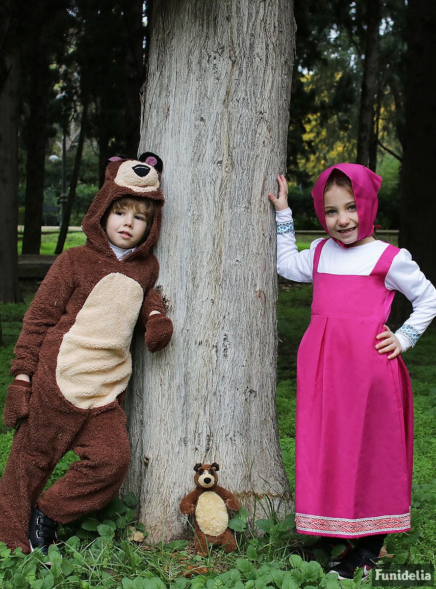 Funidelia the official masha and the bear costumes. manufactured and
