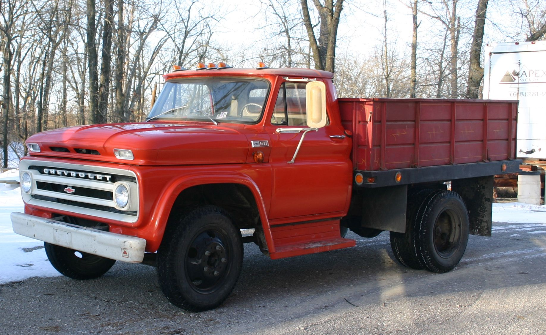1965 Chevrolet C50 stake bed. Gasoline Chevy 396. 5 speed