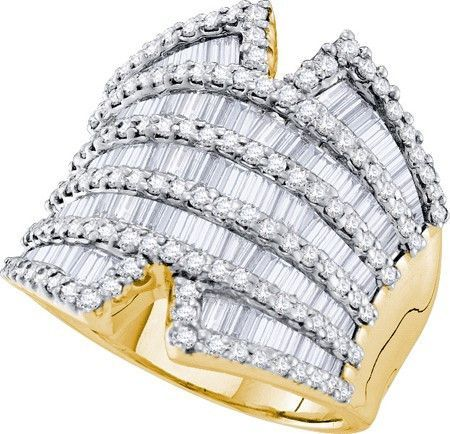 14KT Yellow Gold 2.82CTW DIAMOND FASHION BAND: Rings