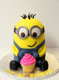 Minion Birthday Cake Minion Cakes Pinterest Minion cakes
