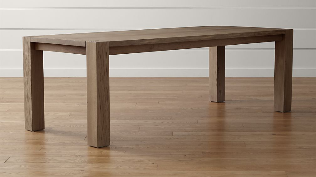 Big Sur Smoke 90 5 Dining Table Crate And Barrel Dining Table