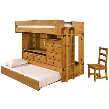 Groovy Rustica Full Over Twin All In One Bunk Bed W Chair In 2019 Frankydiablos Diy Chair Ideas Frankydiabloscom