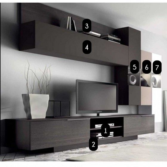 Meuble Mural Tv Design Dania Meuble Mural Tv Design Muebles