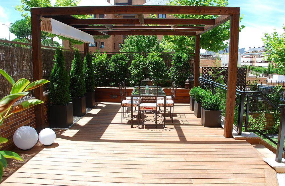 Corten pergola exterior mobiliario exterior cenador for Mobiliario jardin madera