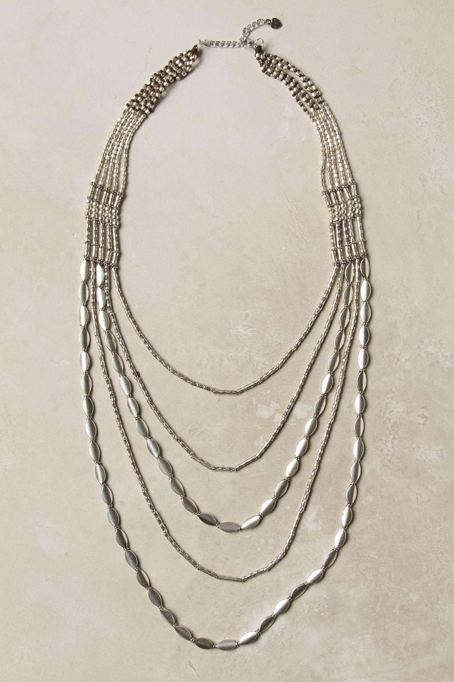Argent Strands Necklace