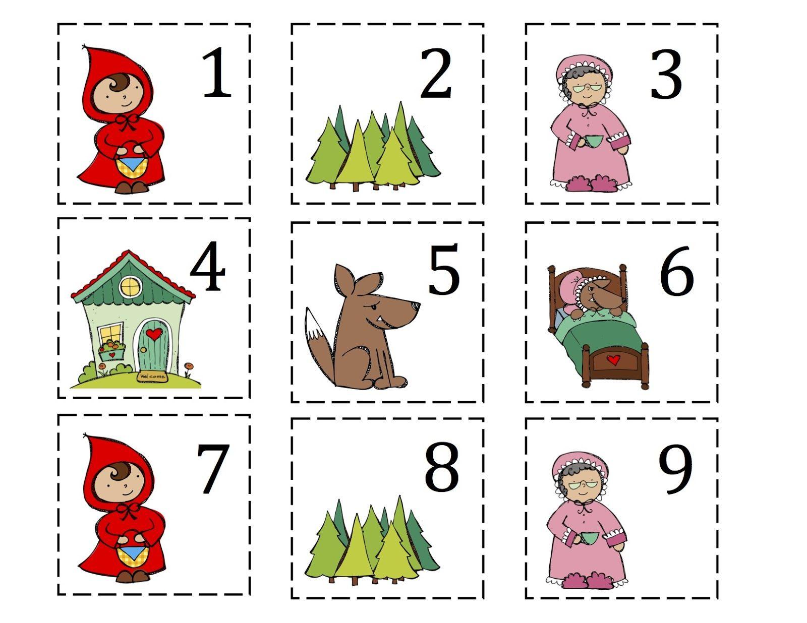 Preschool Printables Little Red Riding Hood