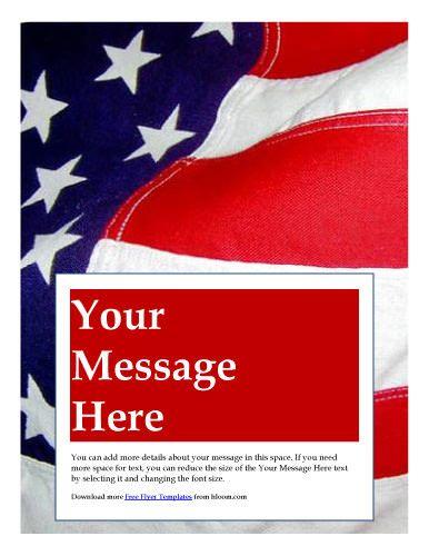 patriotic american flag flyer template marketing flyers flyer
